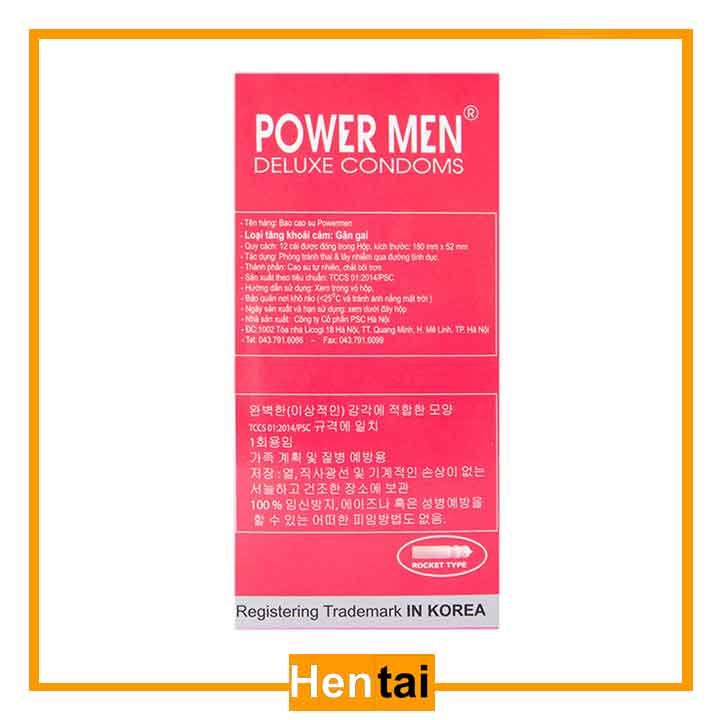 Bao cao su Powermen ROCKET hộp 12 cái