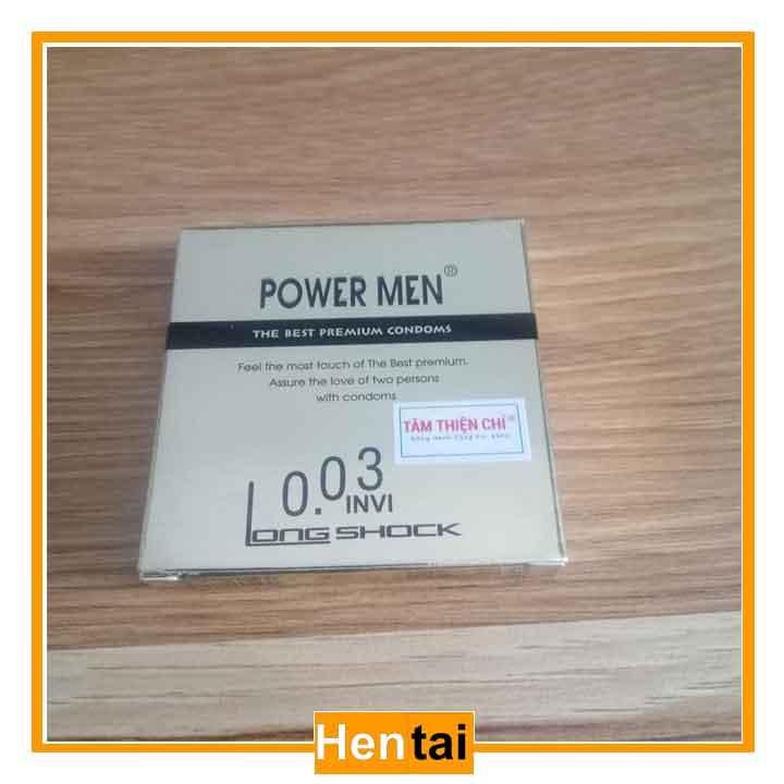 Bao cao su Power men 003 invi - 3 chiếc