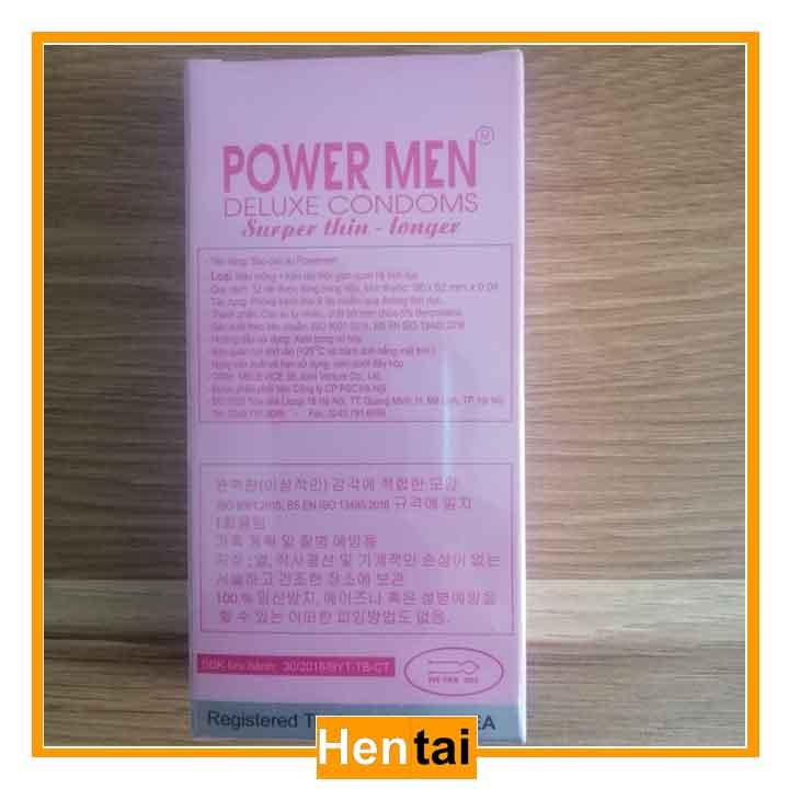 Bao cao su Power men long sock & super thin 12 chiếc