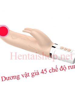 Dương vật giả cầm tay vibrator 45 chế độ rung ngoáy